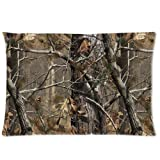 "Realtree Camo Pillow Cases Covers Standard Size Pillowcase 20""x30"" (Twin sides)"