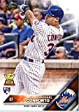 2016 Topps #232 Michael Conforto New York Mets Baseball Rookie Card in Protective Screwdown Display Case