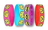 Emoji smile Emoticon Silicone Wristband Bracelets - 24 Emoji Face Mood Friendship Bracelets