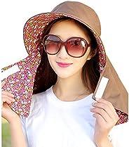 Women Sun Cap Flap Hats Wide Brim Caps UV Protection Summer Sun Hats
