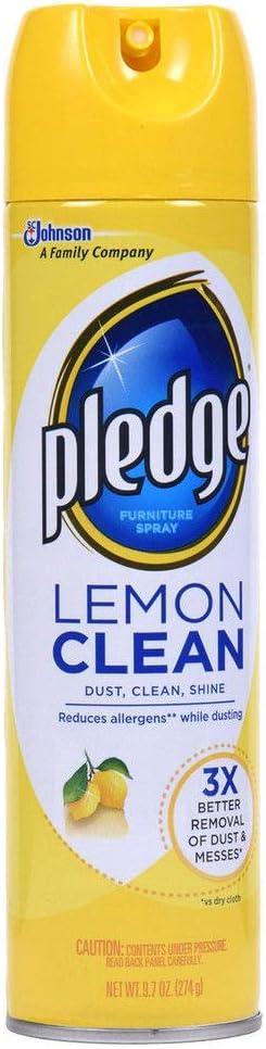 Pledge 301168 13.8 Oz. Pledge Furniture Polish - Lemon (6/Box)