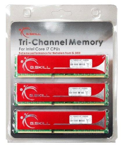 Kit de Memória G.SKILL - 6 GB com 3X2Gb 240P DDR3 1600 Pc3 12800, F3-12800CL9T-6GBNQ