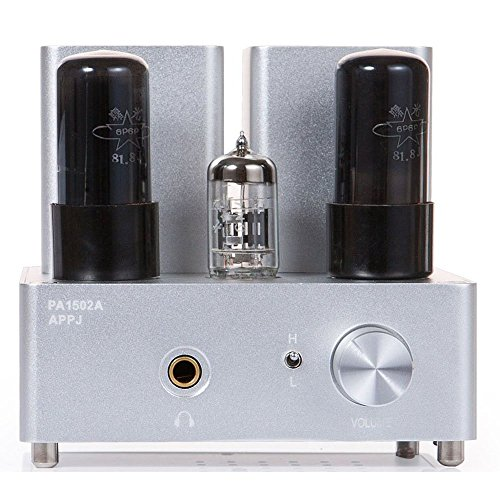 Gemtune APPJ PA1502A 6N4+6P6P tube headphone amplifier (Silver) APPJ