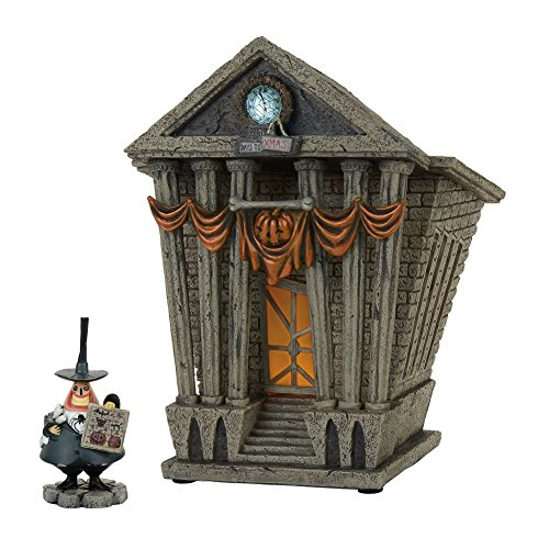 Department 56 nightmare Before Christmas Village Halloween Town City Hall Lit House w/ Mayor (Halloween Town City Hall)