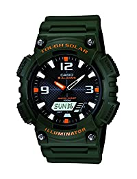 Casio AQS810W-3AV sport watch - Reloj deportivo (52.2 x 13.8 x 46.6, Green, Resin)