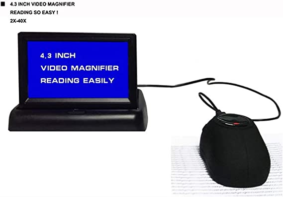 WMAID Lupa de ratón Lupa de Video Digital para TV Ayudante Visual/de Lectura Magnifique Libros, periódicos y revistas para ceguera al Color de Baja visión 2X-40X Veces Zoom: Amazon.es: Hogar