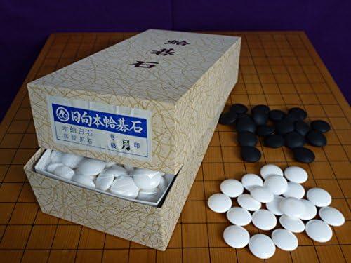 【幻の碁石】日向特産蛤碁石 月印 28号 7.5ミリ