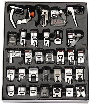 32 juego de accesorios para máquina de coser prensatelas Presser foot presupuesto de teflón sörnsen Brother Singer Babylock /New Home /Janome /Elna /Toyata /Singer /NewHome