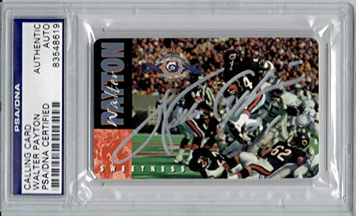 Walter Payton Autographed 1995 Calling Card PSA/DNA Chicago Bears Super Bowl 10th Anniversary