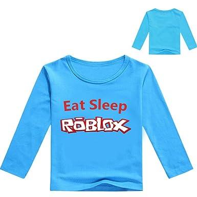 5d2cb2289b99 Lanminer Haut à Col Rond de Dessin Animé Imprimé Unisex pour Enfants Roblox  T-Shirt à Manches Longues Convient pour Les Garçons et Les Filles Sweat- Shirts ...