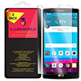 iLLumiShield HD Tempered Glass [2-Pack] - LG G4 Screen Protector / Lifetime Warranty / 99.9% Ultra HD - Glide Touch Precision / 9H Hardness + .33 mm Ultra-Thin / Anti-Fingerprint Coating & Anti-Bubble
