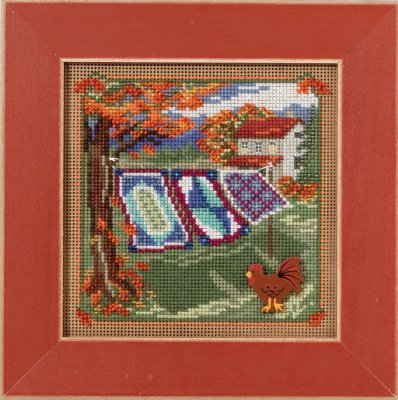 Country Quilts Beaded Counted Cross Stitch Kit Mill Hill MH141621 Buttons & Beads 2016 Autumn ()
