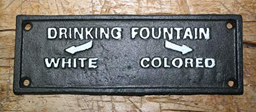 - Home Decor Cast Iron Colored Drinking Fountain Black Americana Court House Plaque Perfect for Your Farmhouse