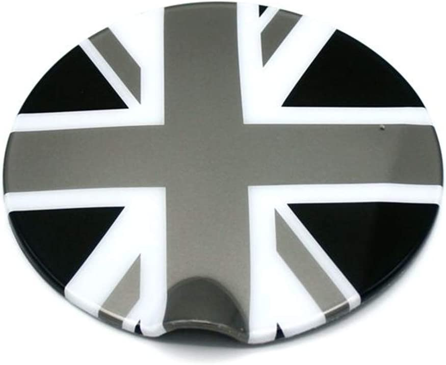 HDX Gray//Black Union Jack UK Flag ABS Sticker Cover Trim Cap for Mini Cooper ONE S JCW F Series F55 Hardtop F56 Hatchback F57 Covertible 2016-up Steering Wheel