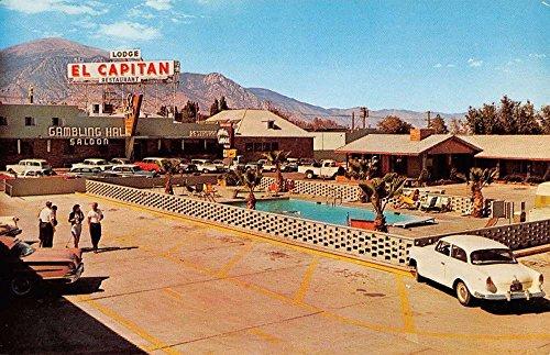 Hawthorne Nevada El Capitan Lodge Pool View Vintage Postcard K34108