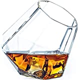 Dragon Glassware Diamond Whiskey Glasses, 10-Ounce Old Fashioned Tumblers, Gift Boxed - Set of 2