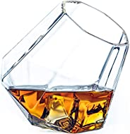 Dragon Glassware Diamond Whiskey Glasses, Lead-Free Crystal Clear Glass, 10-Ounce, Comes in Luxury Gift Packag