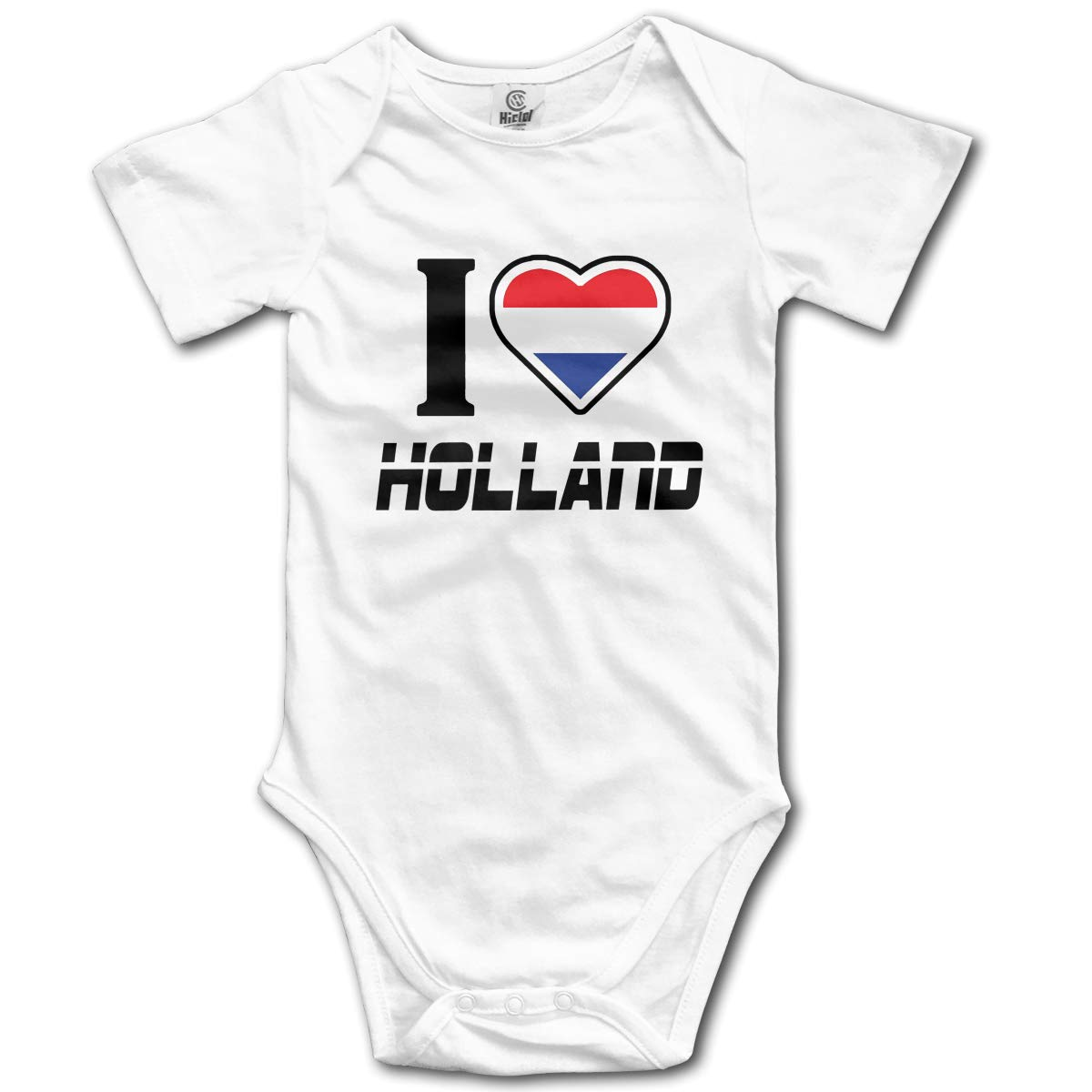I Love Holland Printed Toddler Baby Girls Short-Sleeved Bodysuit Jumpsuit Outfits