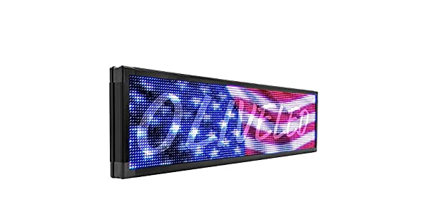 "Amazon.com: LED SIGNO Full Color P20, 15""x116"" ..."