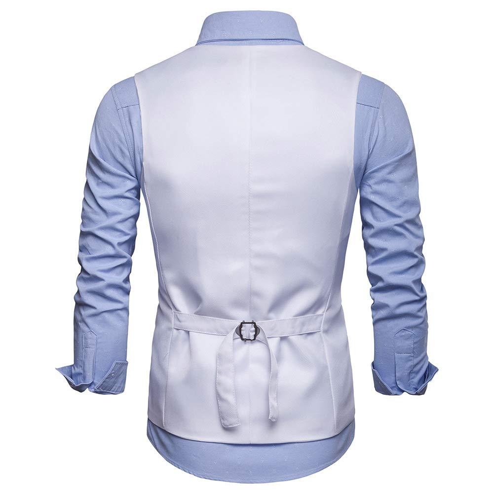 YOUTHUP Gilet de Costume Homme Formel Slim Fit Classique Col en V Veste sans Manche Business Mariage