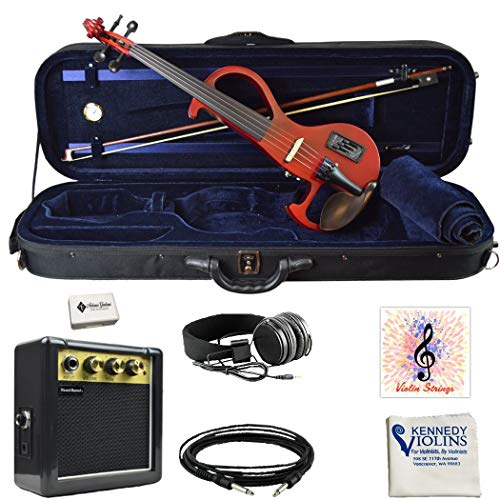 Best Fender Electric Violins - Bunnel EDGE Electric Violin Outfit (Rockstar