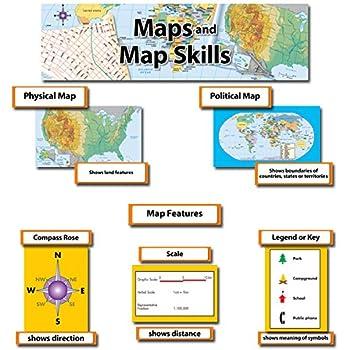 Creative Teaching Press Mini Bulletin Board Set, Map and Map Skills (3793)