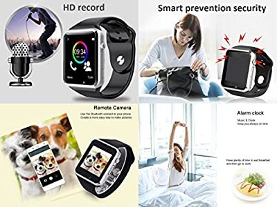 Bluetooth Smart Watch - Aeifond Touch Screen Sport Smart Wrist Watch Smartwatch Phone Fitness Tracker with Camera Pedometer SIM TF Card Slot for iPhone iOS Samsung Android for Men Women Kids (Gold)