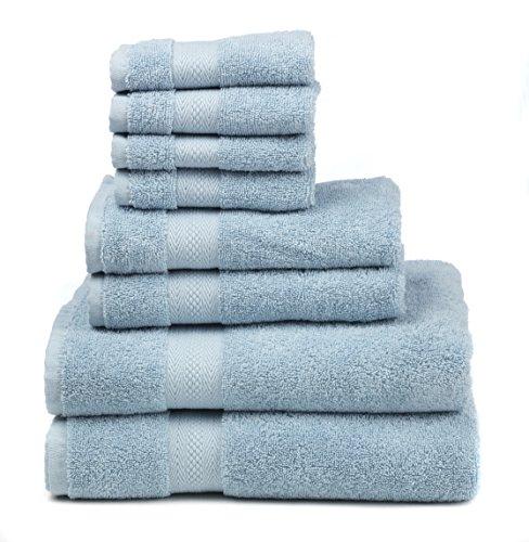 Premium 100% Cotton 8-Piece Towel Set  - Natural, Soft and U