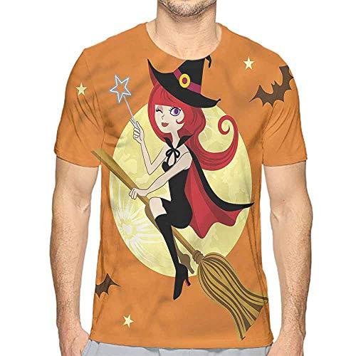 Comfort Colors t Shirt Witch,Magic Girl Winking Eye Flying t Shirt XXL -