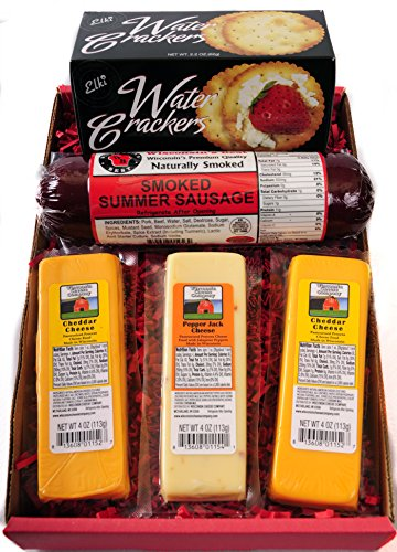 Wisconsin Cheese, Sausage & Crackers (Meat Gift Basket)