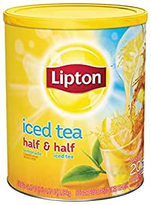 Lipton Iced Tea Mix, Half and Half Sweetened 20 qt (Pack of 6)