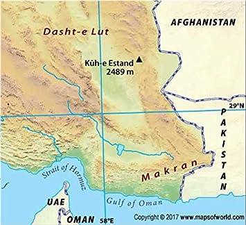 Irán Mapa Físico (36