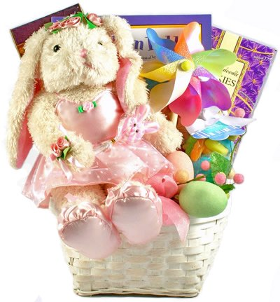 Bunny Ballerina Easter Basket for Girls