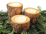Real Wood Candle Holders