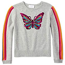 Girls' Big Graphic Flip Sequin Sweater