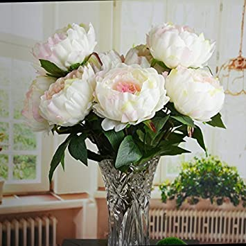 Funny Home Pink Peony Artificial Flower Bouquet Home Office Decor Weding Decorations 1 Bunch