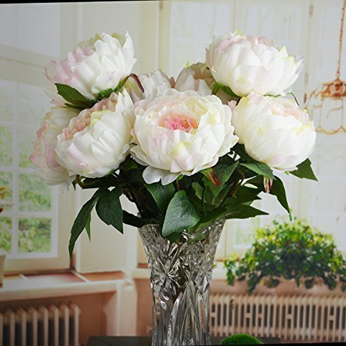 HoveBeaty Pink Peony Artificial Flower Bouquet Home Office Decor Weding  Decorations (1 Bunch Of 5 Flowers )