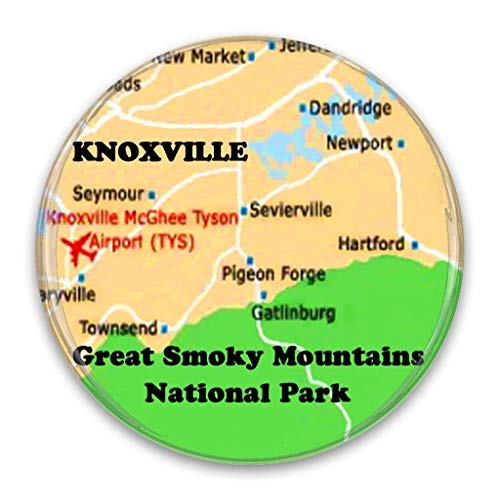 Smoky Mountains TN Area Map 2.25 Inch Pocket Mirror Refrigerator Magnet or Pinback Button