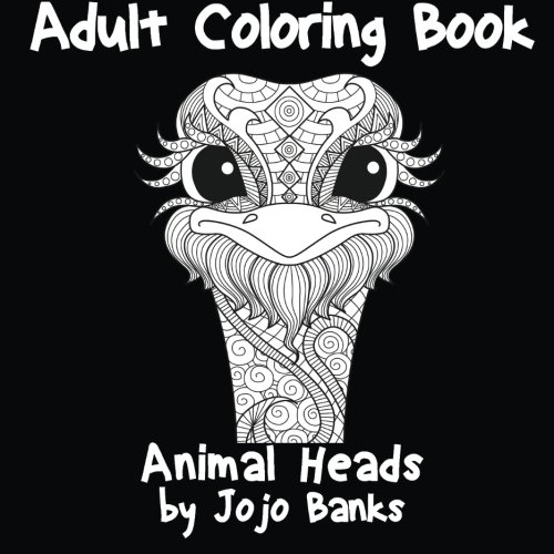 Download Adult Coloring Book (Animal Heads) (Volume 1) pdf