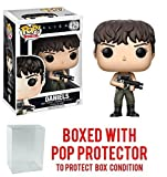Funko Pop! Movies: Alien: Covenant - Daniels (Suit) Vinyl Figure (Bundled with Pop BOX PROTECTOR CASE)