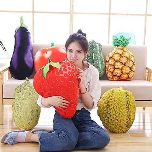 50cm Fruit Pillow Durian Pineapple Strawberry Tomato Eggplant Pumpkin Vegetable Pillow Cushion Plush Plants - 4