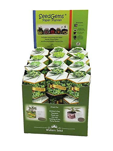 Walters Seed Company W1501-R Seedgems Paper Planter Seed Starting Kit by Walters Seed Company
