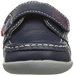 See Kai Run Arthur Velcro Boat Shoe (Infant/Toddler), Blue, 3 M US Infant