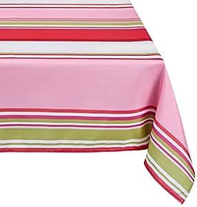 Lovely Casa N14979001 Bastiane gris/poliéster mantel 140 x 140 cm rosa