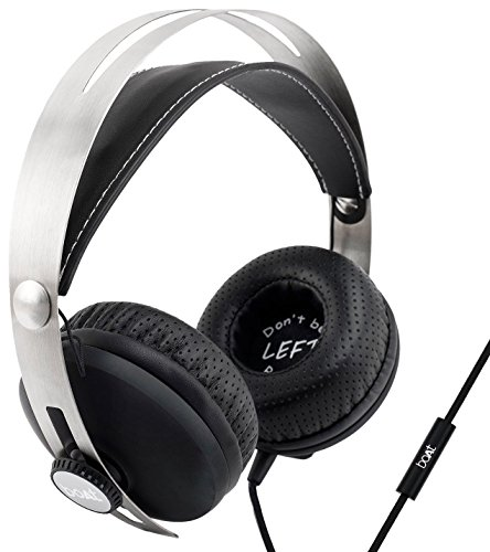 boAT BassHeads 800 Super Extra Bass Wired Headphones with Mic  Black