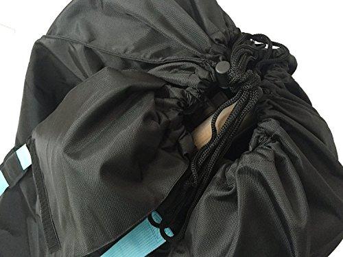 Bububee 'Elua XL Double Stroller Gate Check Travel Bag (Black & Aqua) by Bububee (Image #3)