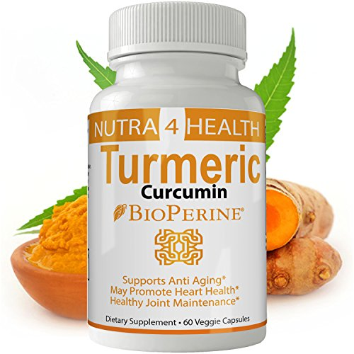 Turmeric Curcumin Supplement | Tumeric MD Capsules Powder Extract Contains 95% Curcuminoids – Anti Inflammatory Supplement – Turmeric Pills Root Powder – Strongest Antioxidant- 100% Herbal Product