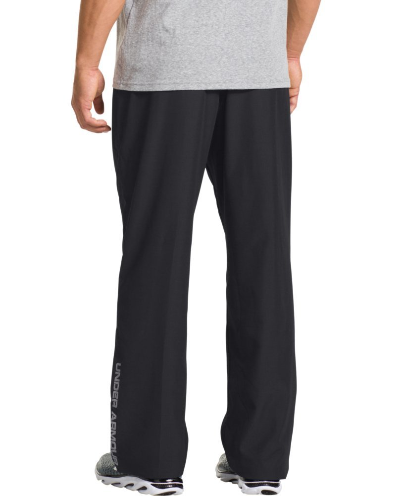 Under Armour Men's Vital Warm-Up Pants, Black /Graphite, Large by Under Armour (Image #2)