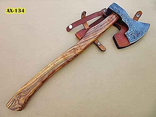 DIST-Ax-134, Handmade Damascus Steel 19.2 inches Solid Axe – Rose Wood Handle