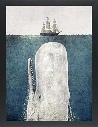 (Easy Art Prints Terry Fan's 'The Whale Option' Premium Framed Canvas Art - 32